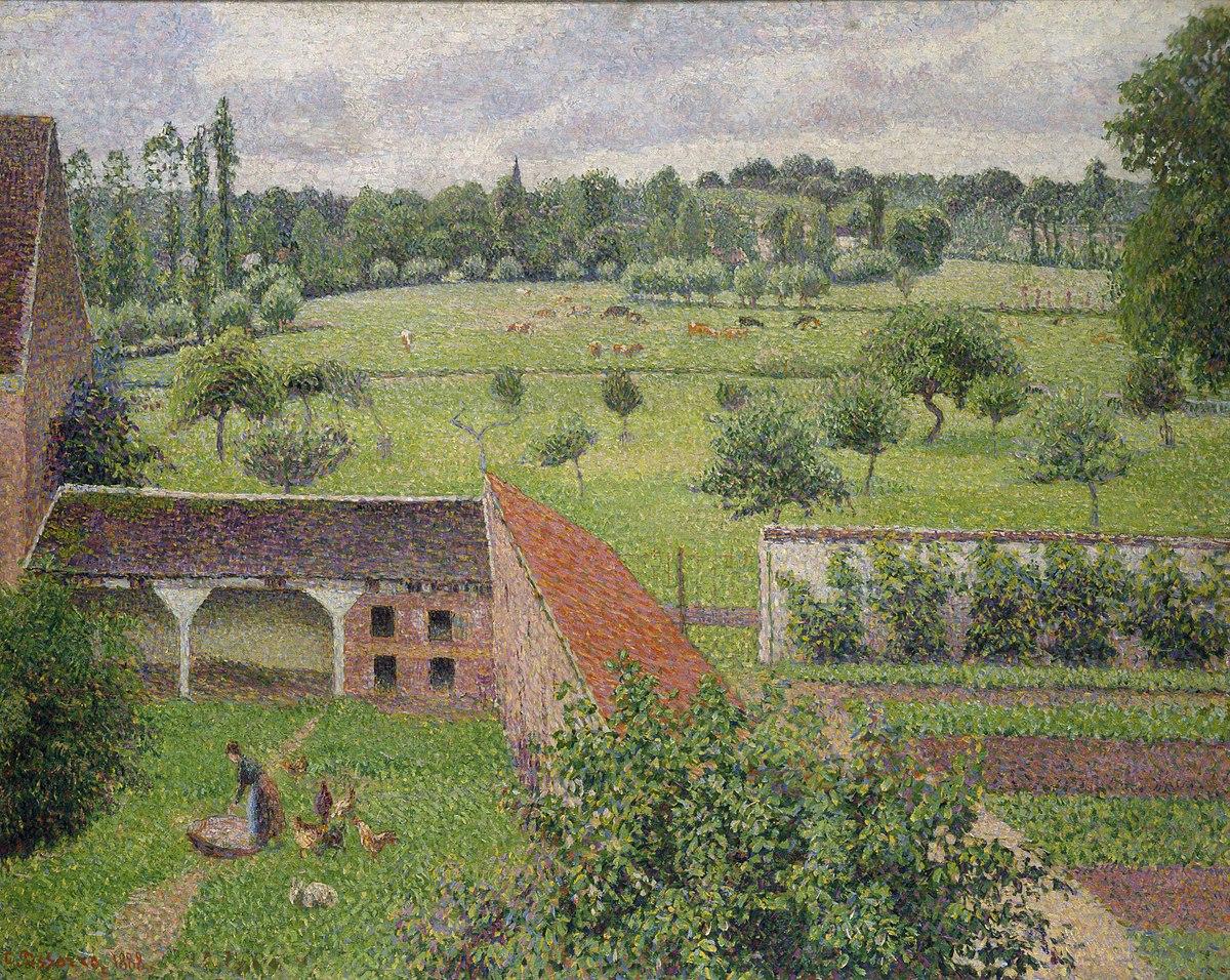 Camille Pissarro - View from my Window, Eragny-sur-Epte (1888).jpg