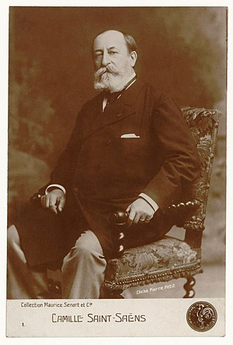 Camille Saint-Saëns - Saint-Saëns, photographed by Pierre Petit in 1900