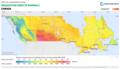 Canada DNI Solar-resource-map lang-FR GlobalSolarAtlas World-Bank-Esmap-Solargis.png