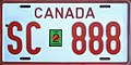 Canada military in Germany license plate private vehicle SC-888.jpg