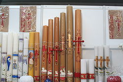 Candles and the Paschal candles (1) - SACROEXPO-2013-06-17.jpg