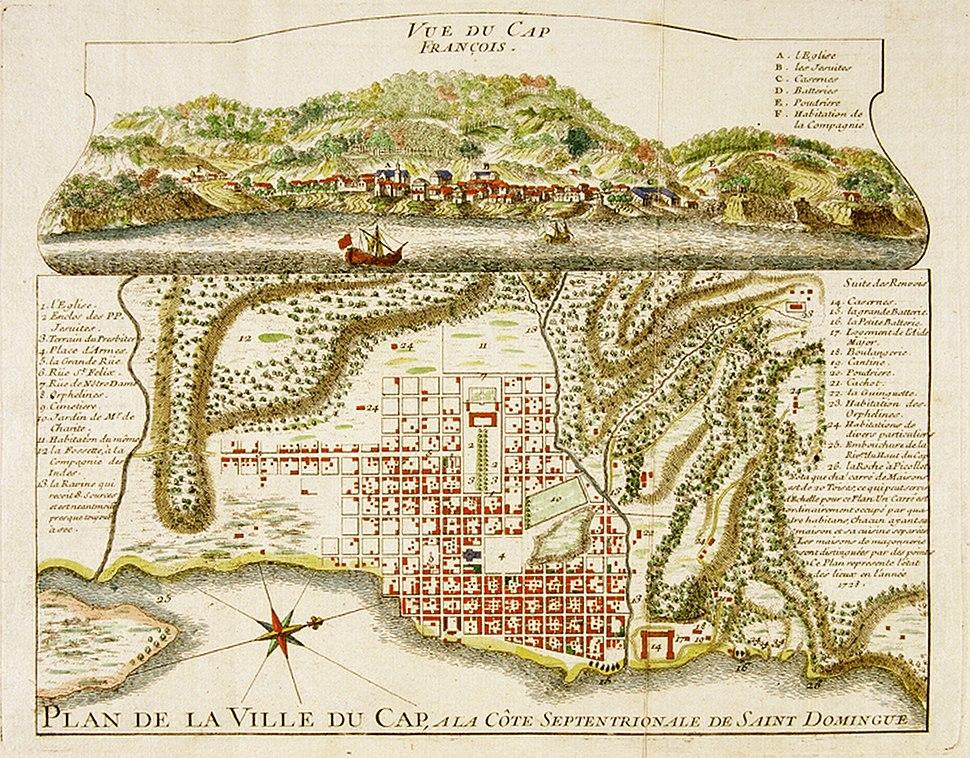 Cap Français - Gravure ancienne - 1728