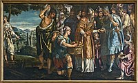 Cappella Montefeltro - Sacrificio di Melchisedech - Parrasio Micheli.jpg
