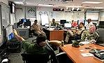 Capt. Bobby Baker is briefed ahead of Hurricane Irma. (36916442706).jpg
