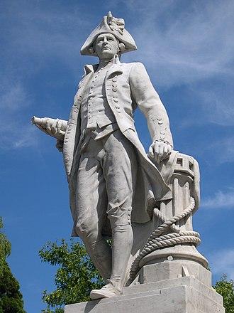 Cook Statue, Christchurch - Image: Captain Cook statue, Christchurch