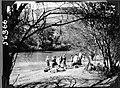 Caravan crossing a river (3948802092).jpg