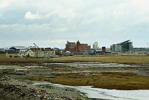 Cardiff Bay - Cardiff Bay before the construction of the Cardiff Bay Barrage