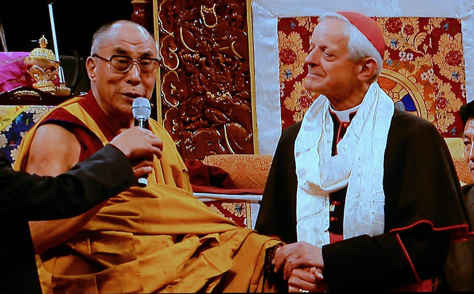 Cardinal HE Donald Wuerl welcomes His Holiness the 14th Dalai Lama