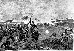 Battle of Lomas Valentinas - Charge of the Argentine infantary at Lomas Valentinas.