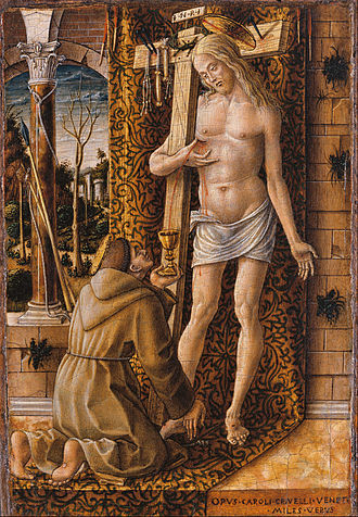 Carlo Crivelli - Saint Francis with the Blood of Christ, 1480–1486