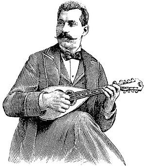 Carlo Curti - Carlo Curti from his 1896 book,  Complete Method for the Mandolin, published by  T.B. Harms of New York and London.