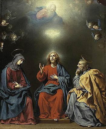The Holy Family with God the Father and the Ho...