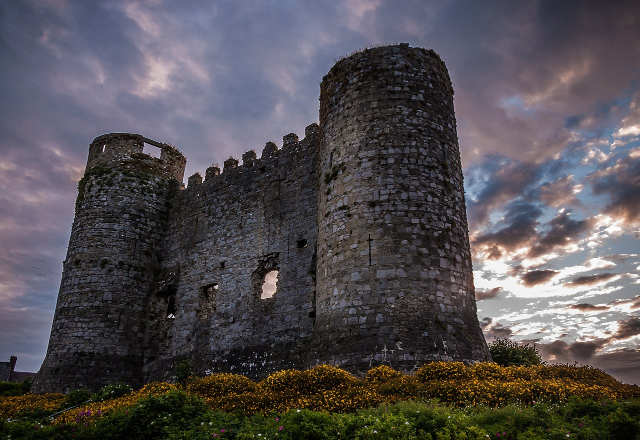 Carlow Castle at sunset