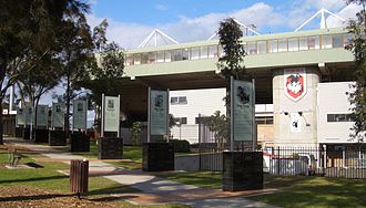 St. George Illawarra Dragons - Outside Jubilee Oval, that includes a Walk of Fame