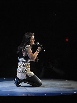 Carly Smithson - Smithson performing during the American Idols Live! Tour 2008