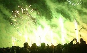 English: Fireworks in Casablanca, Morocco