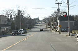 Looking west in downtown Cascade