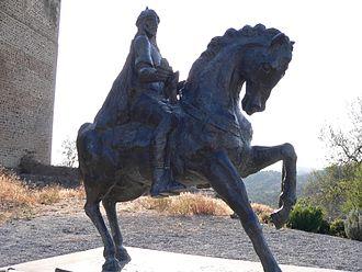 Taifa of Mértola - Statue of Ibn Qasi (Lord of Mértola) next to Mértola's Castle.