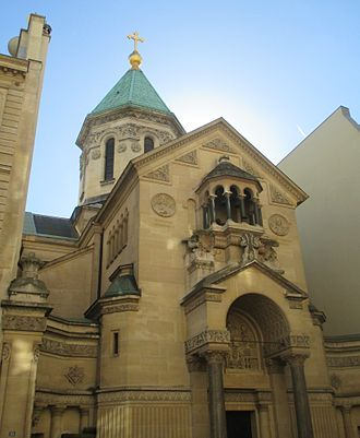 Alexander Mantashev - The Armenian Cathedral of Saint John the Baptist in Paris, built by Mantashev in 1904