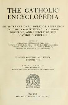 Catholic Encyclopedia, volume 8.djvu