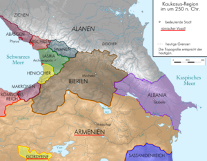 Roman Armenia - The Armenian Kingdom in 250, when it was a vassal of the Roman Empire