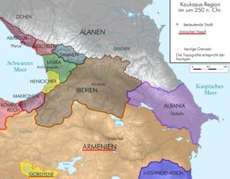 Roman Armenia - The Armenian Kingdom in 250, when it was a vassal of the Roman Empire