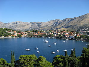 English: Cavtat, Croatia and Cavtat Harbor vie...
