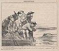 Ce malheureux lièvre doit être fatigué de courir comme ça à coté de la diligence....., from Croquis de Chasse, published in Le Charivari, September 29, 1859 MET DP876774.jpg