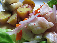 dish of cebiche