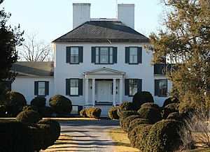 "John Thornton Augustine Washington - ""Cedar Lawn,"" built by John Thornton Augustine Washington in 1825."