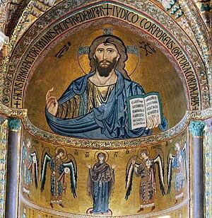 Cattedrale di cefalù ( cefalù ) - cristo pantocratore del catino