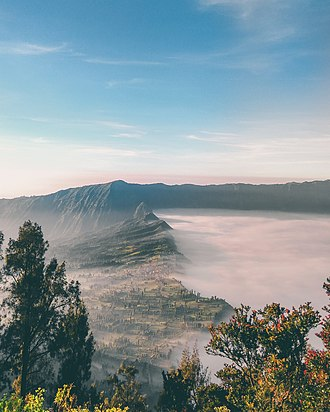 Cemoro Lawang - Image: Cemoro Lawang View from Bromo