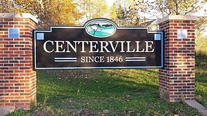 Centerville, Iowa - Centerville Iowa east entrance sign