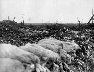 Battle of Pozières - Image: Centre Way view to Mouquet Farm (AWM EZ0100)