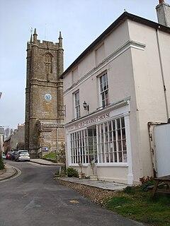 Cerne Abbas village in United Kingdom