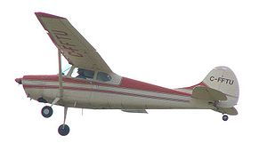 Cessna 170 - Cessna 170B in flight