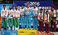 Chain Singh, Gagan Narang and Surendra Singh Rathod of India winner of Gold Medal, Siddique Umar, Midrar Ali and Muhammad Amir of Pakistan winner of Silver Medal and SSM Samarakoon.jpg