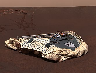ILC Dover - Mars Exploration Rover Opportunity Airbag on the surface of Mars