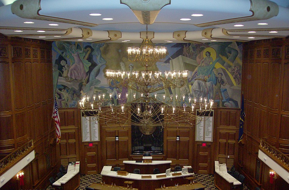 Chandelier in House of Representatives, Indiana Statehouse