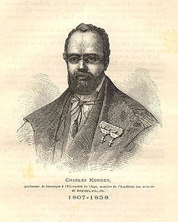 Charles François Antoine Morren Belgian botanist