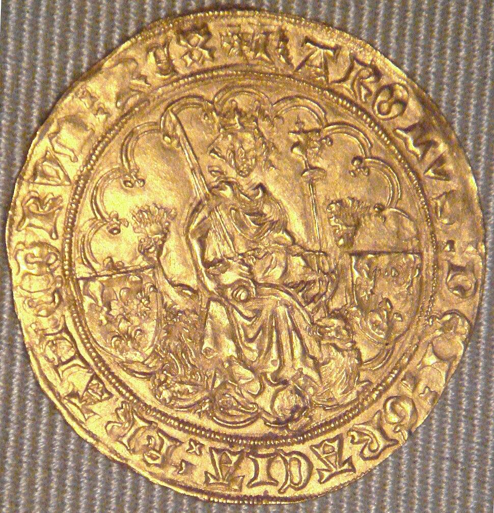 Charles VI double d'or La Rochelle 1420