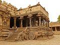Charriot inside Airatesvara temple, Dharasuram, Tamil Nadu.jpg
