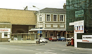 Chelmsford railway station - Street-level entrance to the station in 1984