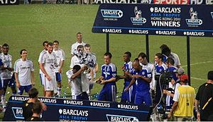 Premier League Asia Trophy - Chelsea celebrate with the tournament cup after winning the 2011 Premier League Asia Trophy.