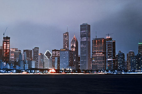 Chicago Lakefront Night Skyline.jpg