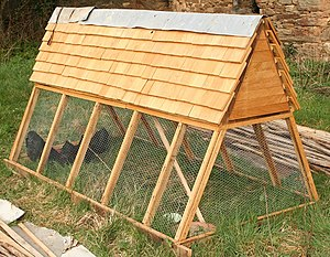 A movable chicken coop