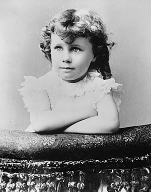 Bess Truman - Image: Childhood Portrait of Bess Truman at About Age 4 and a half