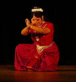 Bharata natyam dancer Chitra Visweswaran. Phot...