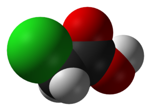 Chloroacetic acid - Image: Chloroacetic acid 3D vd W