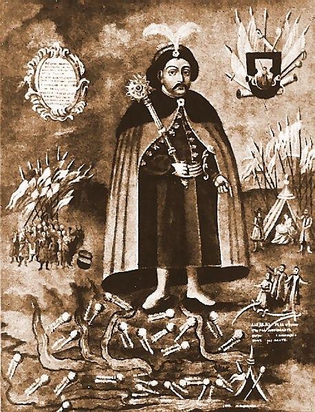Chmelnicki with map of Ukraine